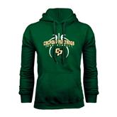 Dark Green Fleece Hood-Basketball In Ball Design