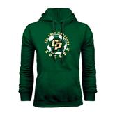 Dark Green Fleece Hood-Soccer Ball Design