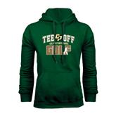 Dark Green Fleece Hood-Tee Off Golf Design