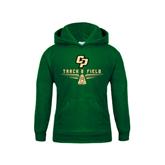 Youth Dark Green Fleece Hoodie-Track and Field Shoe Design