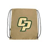 Nylon Vegas Gold Drawstring Backpack-Interlocking CP