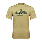 Performance Vegas Gold Tee-Calpoly Mustangs Primary Mark