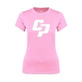 Ladies Performance Light Pink Tee-Interlocking CP