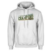 White Fleece Hoodie-2017 Mens Cross Country Champions