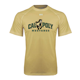 Under Armour Vegas Gold Tech Tee-Calpoly Mustangs Primary Mark