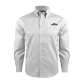 Red House White Long Sleeve Shirt-Calpoly w/ Mustang