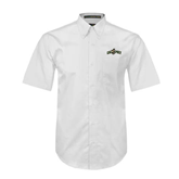 White Twill Button Down Short Sleeve-Calpoly w/ Mustang