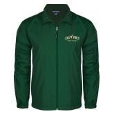 Full Zip Dark Green Wind Jacket-Calpoly Mustangs Primary Mark
