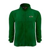 Fleece Full Zip Dark Green Jacket-Calpoly Mustangs Primary Mark