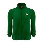 Fleece Full Zip Dark Green Jacket-Interlocking CP