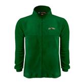 Fleece Full Zip Dark Green Jacket-Calpoly w/ Mustang