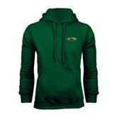 Dark Green Fleece Hood-Calpoly Mustangs Primary Mark