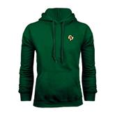Dark Green Fleece Hood-Interlocking CP
