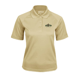 Ladies Vegas Gold Textured Saddle Shoulder Polo-Calpoly Mustangs Primary Mark