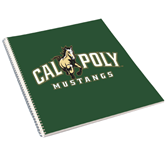 College Spiral Notebook w/Clear Coil-Calpoly Mustangs Primary Mark
