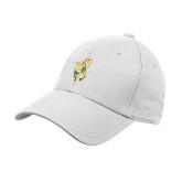 White Heavyweight Twill Pro Style Hat-Calpoly w/ Mustang