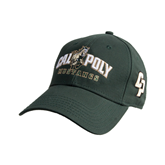 Dark Green Heavyweight Twill Pro Style Hat-Calpoly Mustangs Primary Mark
