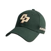 Dark Green Heavyweight Twill Pro Style Hat-Interlocking CP