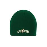 Dark Green Knit Beanie-Calpoly w/ Mustang