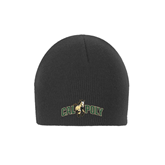 Charcoal Knit Beanie-Calpoly w/ Mustang