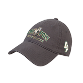 Charcoal Twill Unstructured Low Profile Hat-Calpoly Mustangs Primary Mark