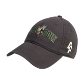Charcoal Twill Unstructured Low Profile Hat-Calpoly w/ Mustang