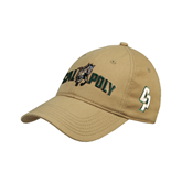 Vegas Gold Twill Unstructured Low Profile Hat-Calpoly w/ Mustang