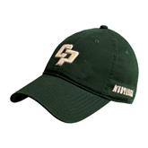 Dark Green Twill Unstructured Low Profile Hat-Interlocking CP