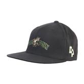 Charcoal Flexfit Flat Bill Pro Style Hat-Calpoly w/ Mustang