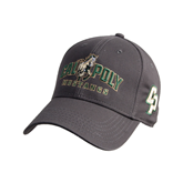 Charcoal Heavyweight Twill Pro Style Hat-Calpoly Mustangs Primary Mark