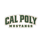 """Small Magnet-Calpoly Mustangs, 6"""" long side"""