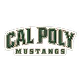 "Large Magnet-Calpoly Mustangs, 12"" long side"
