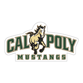 """Large Magnet-Calpoly Mustangs Primary Mark, 12"""" long side"""