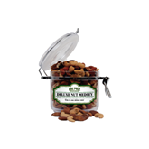 Deluxe Nut Medley Small Round Canister-Calpoly Mustangs
