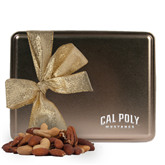 Deluxe Nut Medley Gold Large Tin-Calpoly Mustangs Engraved
