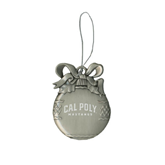 Silver Bulb Ornament-Calpoly Mustangs Engraved