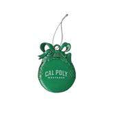 Green Bulb Ornament-Calpoly Mustangs Engraved