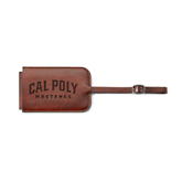 Fabrizio Brown Luggage Tag-Calpoly Mustangs Engraved