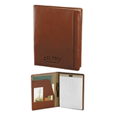 Cutter & Buck Chestnut Leather Writing Pad-Calpoly Mustangs Debossed
