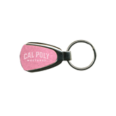 Pink Teardrop Key Holder-Calpoly Mustangs Engraved