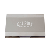 CollegeFanGear Cal Poly Silver Bulb Ornament Calpoly Mustangs Engraved