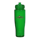 Spectrum Green Sport Bottle 28oz-Calpoly Mustangs Primary Mark