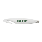 White Letter Opener and Staple Remover-Calpoly Flat