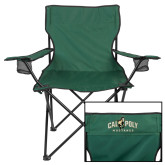 Deluxe Green Captains Chair-Calpoly Mustangs Primary Mark