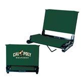Stadium Chair Dark Green-Calpoly Mustangs Primary Mark