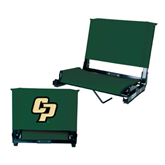 Stadium Chair Dark Green-Interlocking CP