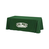 Dark Green 6 foot Table Throw-Calpoly Mustangs