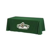 Dark Green 6 foot Table Throw-Calpoly Mustangs Primary Mark
