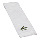White Golf Towel-Calpoly Mustangs Primary Mark