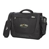 High Sierra Black Upload Business Compu Case-Calpoly Mustangs Primary Mark